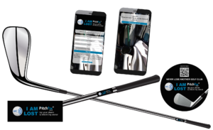 """NEW !! """"I AM LOST"""" NFC stickers that personalize golf clubs."""